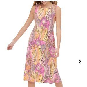 Tommy hilfiger PAISLEY-PRINT A-LINE DRESS